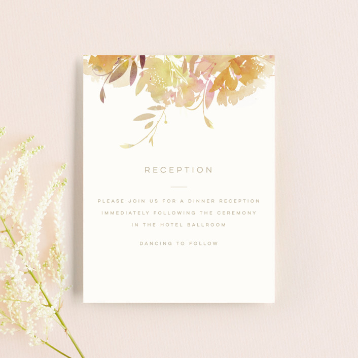 """""""Garden"""" - Reception Cards in Peach by Lori Wemple."""