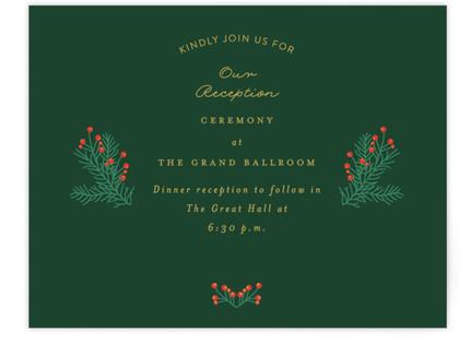 Holiday Wedding Reception Cards