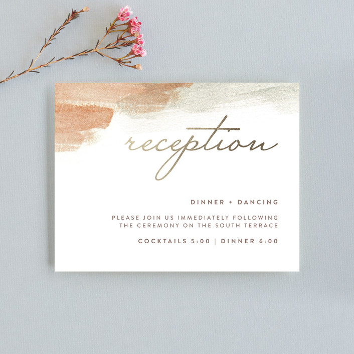 """Canyon"" - Bohemian, Modern Reception Cards in Sienna by Kelly Nasuta."