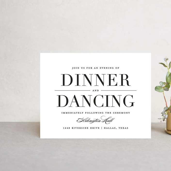 """""""Classic"""" - Reception Cards in Tuxedo by Lauren Chism."""