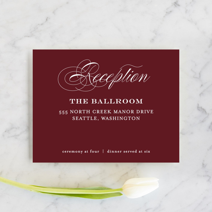 """""""Timeless Elegance"""" - Reception Cards in Black Night by AK Graphics."""