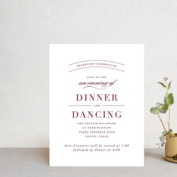 """divine"" - Reception Cards in Gilded Gold by Jennifer Postorino."