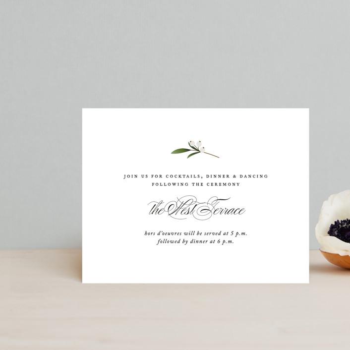 """Adorned Ampersand"" - Reception Cards in Cotton by Jennifer Postorino."