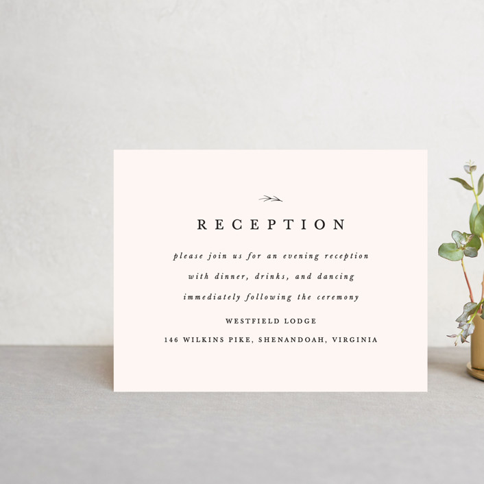 """Astor"" - Reception Cards in Blush by carly reed walker."