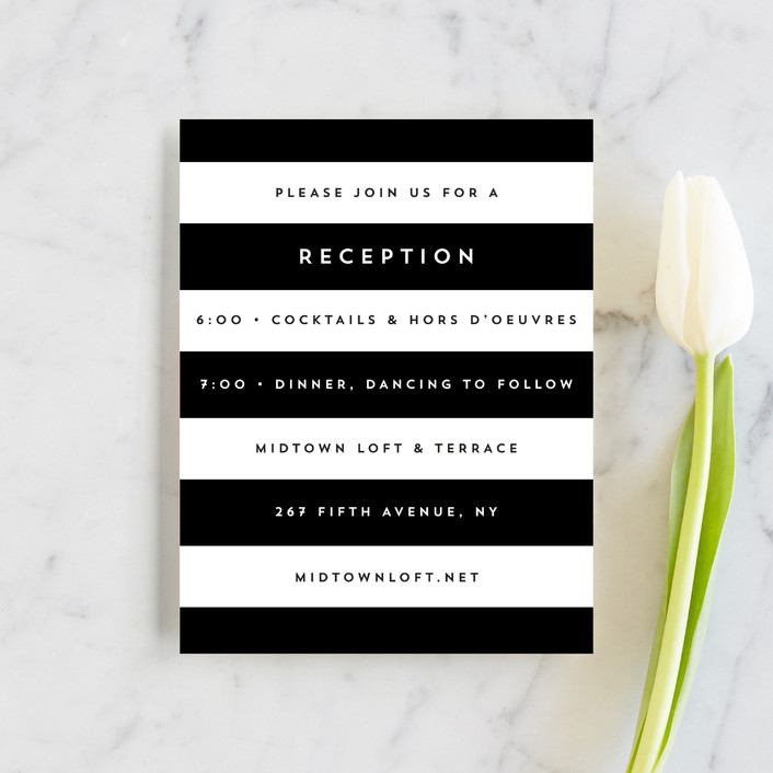 """""""Élan"""" - Reception Cards in Tuxedo by Griffinbell Paper Co.."""