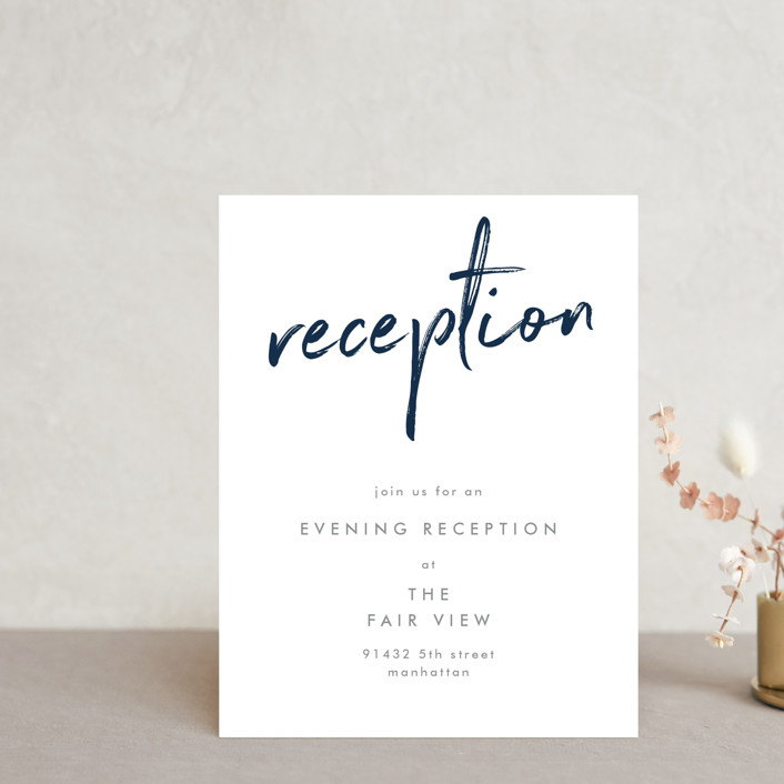 """""""Funky Names"""" - Reception Cards in Navy by Phrosne Ras."""