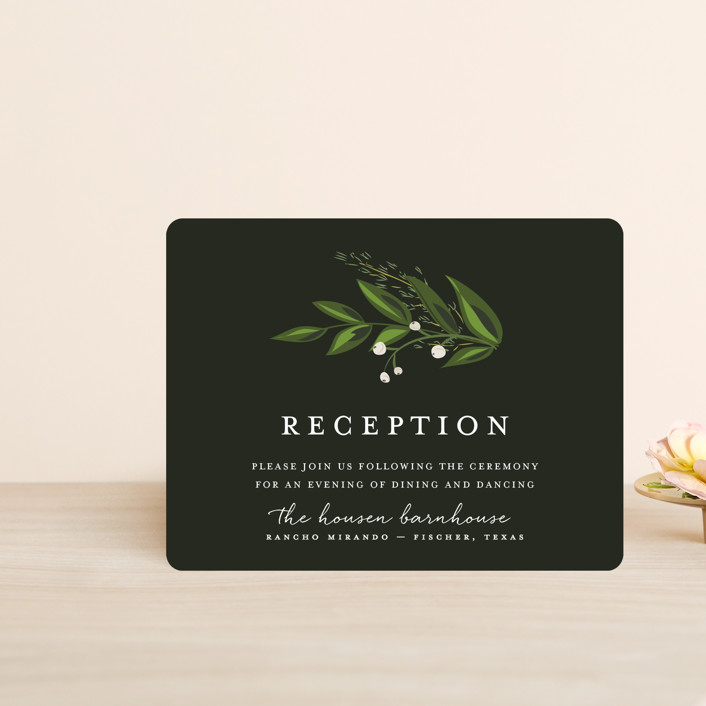 """""""Vines of Green"""" - Reception Cards in Fern by Susan Moyal."""