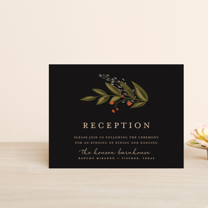 """Vines of Green"" - Reception Cards in Fern by Susan Moyal."