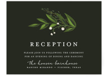 Vines of Green Reception Cards