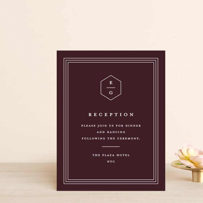 """Next Adventure"" - Reception Cards in Navy by Stacey Meacham."