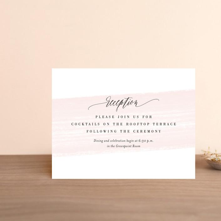 """Effervescent"" - Reception Cards in Blush by Kristie Kern."