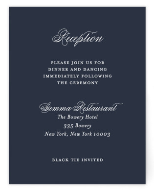 Flawless Reception Cards