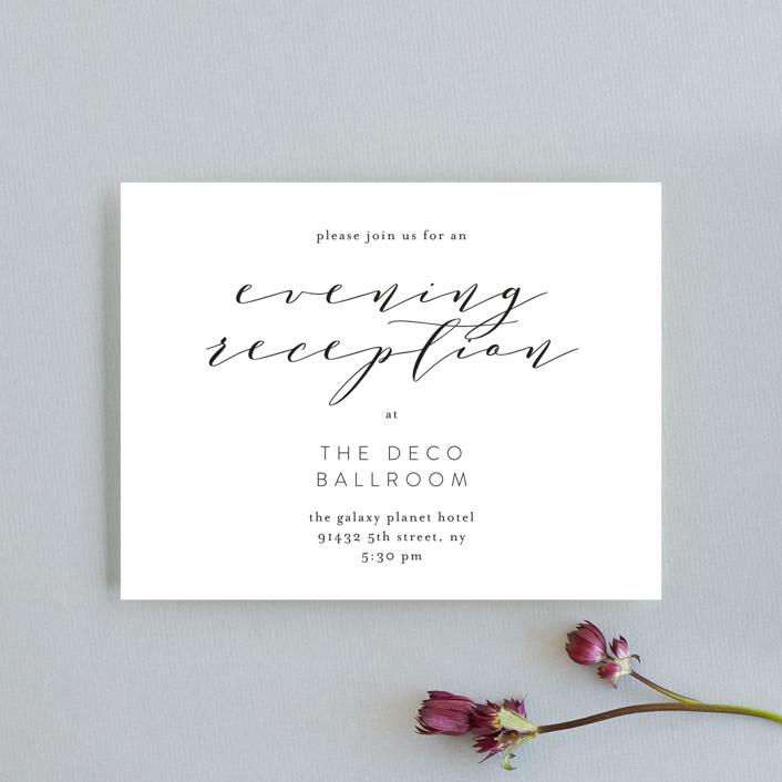 """Simple Elegance"" - Reception Cards in Tuxedo by Phrosne Ras."