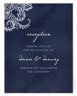 Indigo Lace Reception Cards