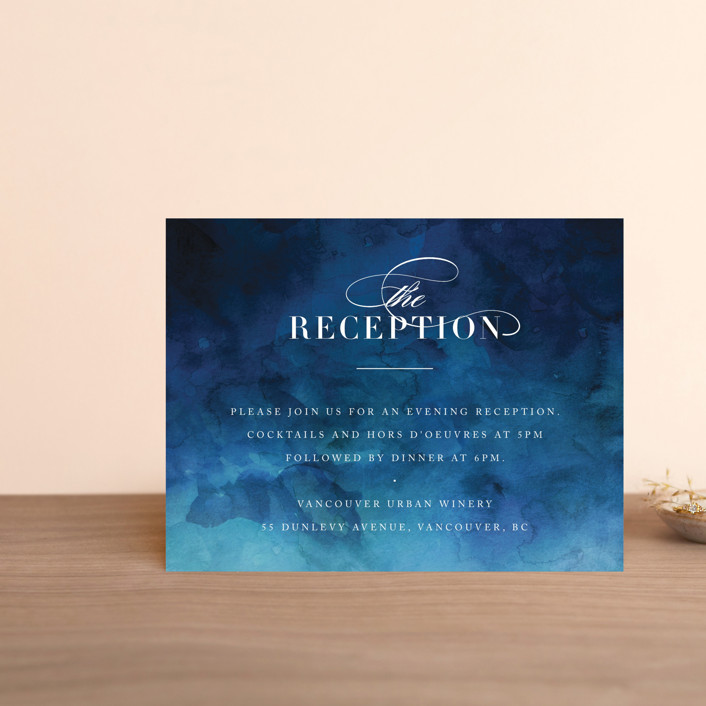 """Indigo Sea"" - Reception Cards in Ocean by Kelly Schmidt."