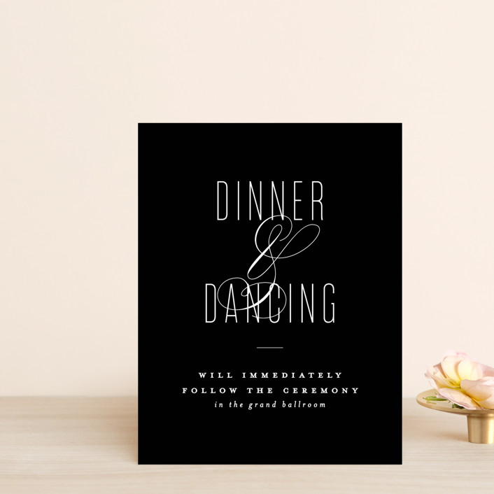 """""""Scripted Ampersand"""" - Reception Cards in Midnight by Roxy Cervantes."""