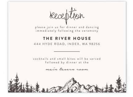 Mountains Reception Cards