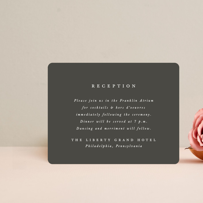 """""""And here we are"""" - Reception Cards in Marble by Lea Delaveris."""