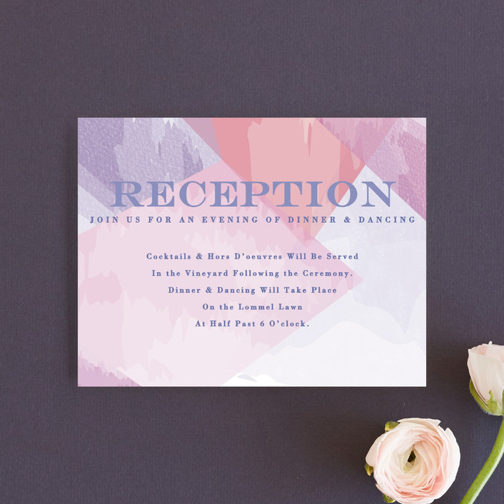 """""""wash of color"""" - Reception Cards in Lilac by Karidy Walker."""