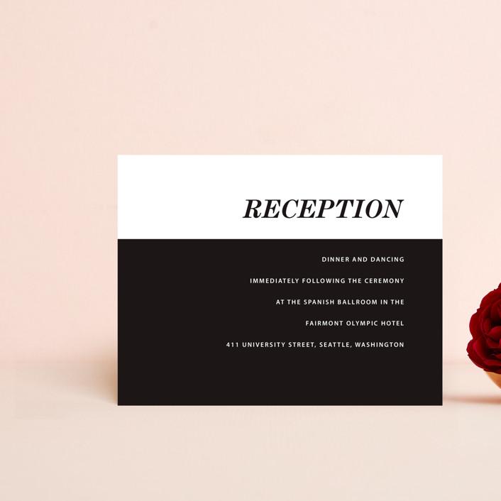 """Slanted"" - Reception Cards in Noir by Drango Design."