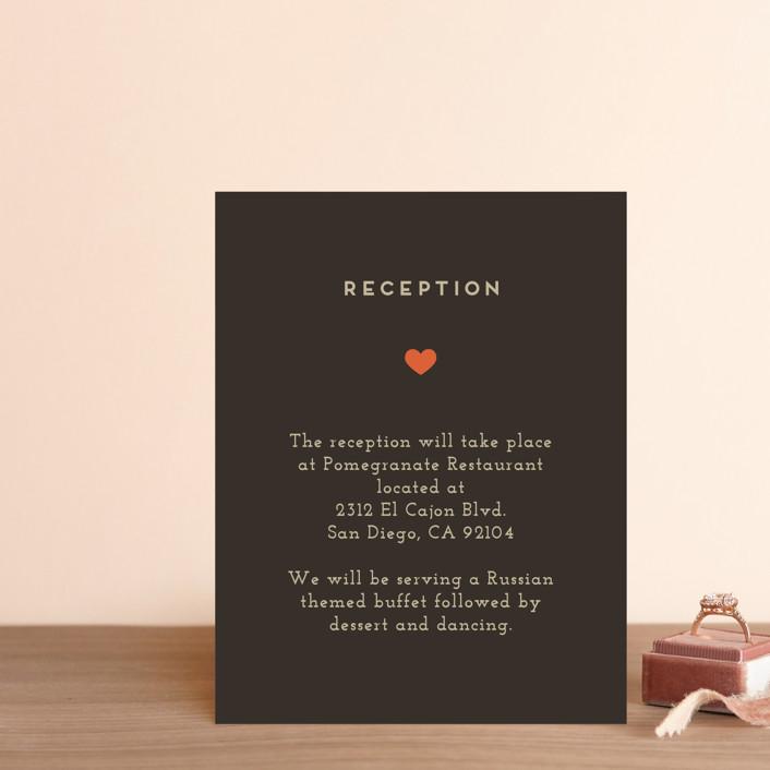 """Until Death"" - Reception Cards in Golden by Katie Zimpel."