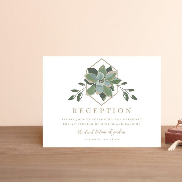 """""""Succulent Surround"""" - Reception Cards in Cloud by Susan Moyal."""