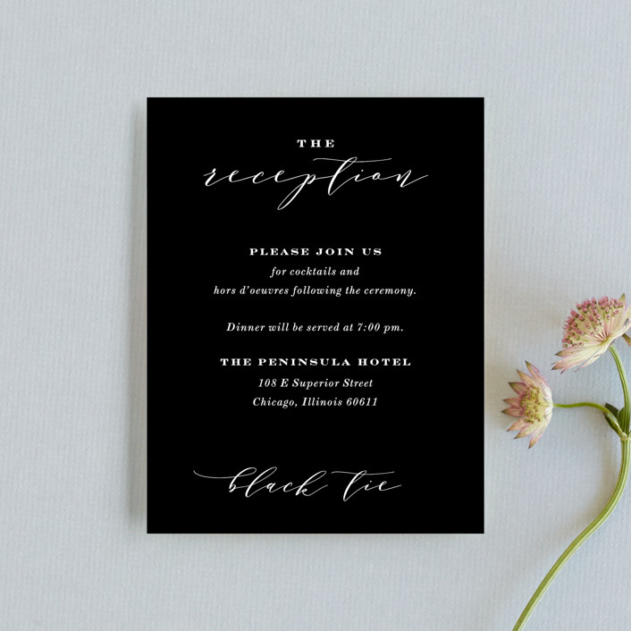 """""""Perspective"""" - Reception Cards in Noir by Kimberly FitzSimons."""
