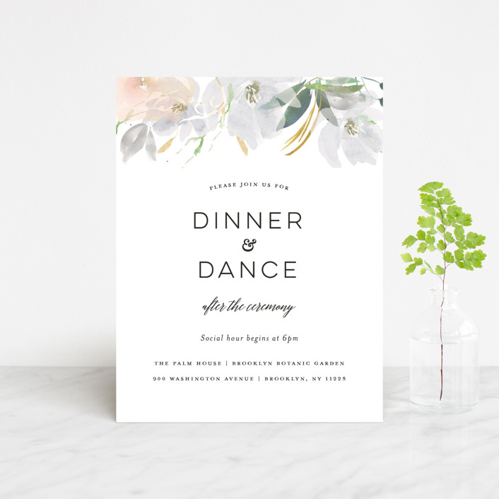 """""""Grande Botanique"""" - Reception Cards in Mist by Bonjour Paper."""