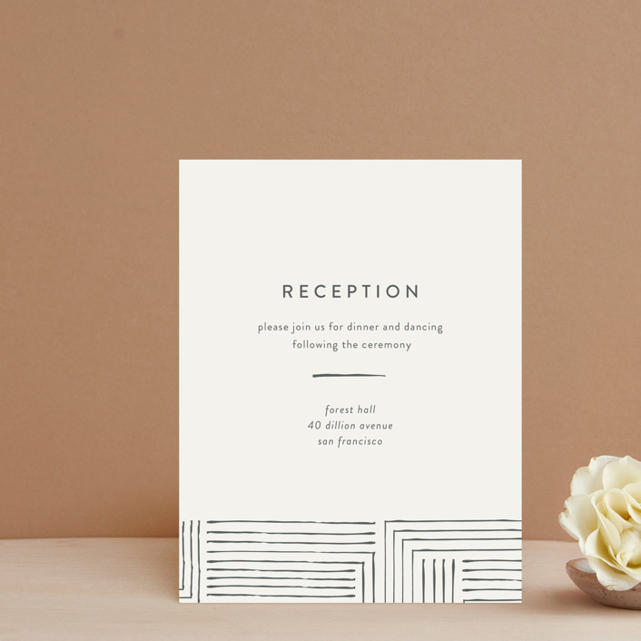 """""""Pattern Play"""" - Modern Reception Cards in Pebble by Anelle Mostert."""