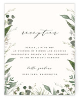 Natures Greens Reception Cards