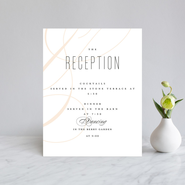 """Today & Always"" - Reception Cards in Peach by Stacey Meacham."