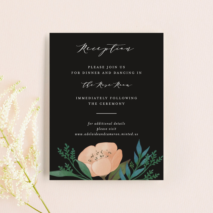 """Twilight"" - Reception Cards in Coal by Lehan Veenker."