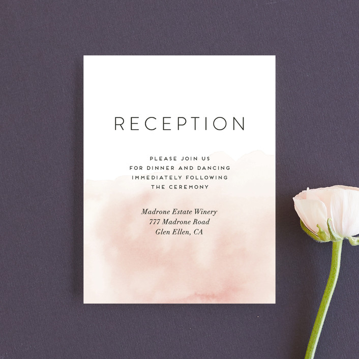 """Etheral Bouquet"" - Reception Cards in Blush by Petra Kern."