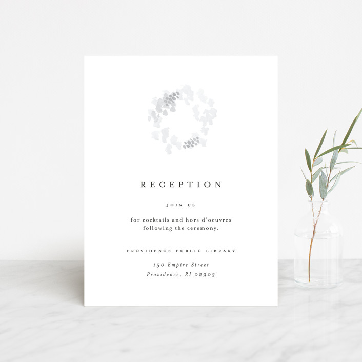 """""""A Thousand Years"""" - Reception Cards in Classic White by Design Lotus."""