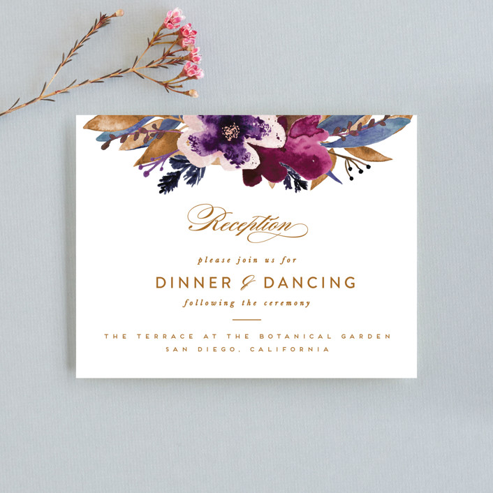 """Fall romance"" - Reception Cards in Jewelled by Sweta Modi."