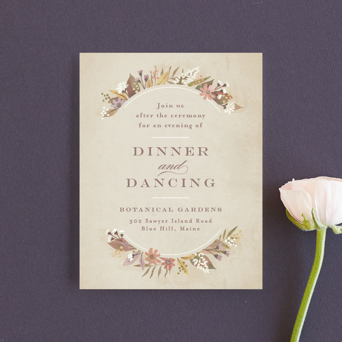 """turning leaves"" - Reception Cards in Champagne by Jennifer Wick."