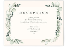This is a green reception card by Petra Kern called Gentle Greens with standard printing on signature in standard.