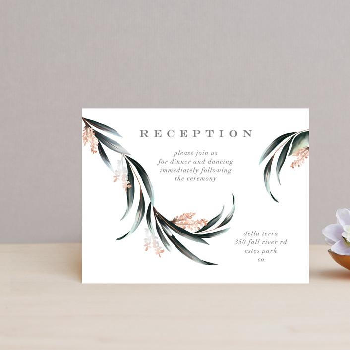 """Maya Rustica"" - Reception Cards in Rose by Petra Kern."
