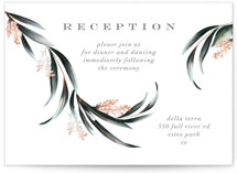 This is a green reception card by Petra Kern called Maya Rustica with standard printing on signature in standard.