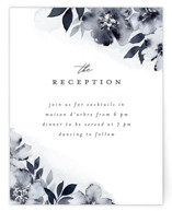 This is a blue reception card by Everett Paper Goods called Fancifully with standard printing on signature in standard.