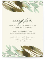 This is a green reception card by Grace Kreinbrink called Gardens Edge with standard printing on signature in standard.
