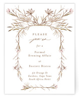 This is a brown reception card by Phrosne Ras called ring box with standard printing on signature in standard.