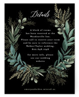 This is a black reception card by Alethea and Ruth called Forest Crest with standard printing on signature in standard.