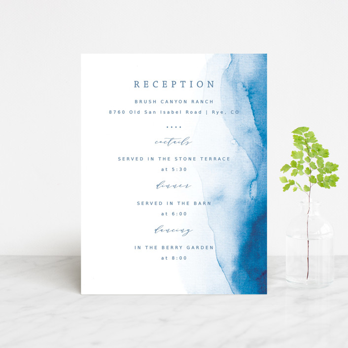 """""""Watercolor waves"""" - Reception Cards in Ocean by Yuliya Evseeva."""