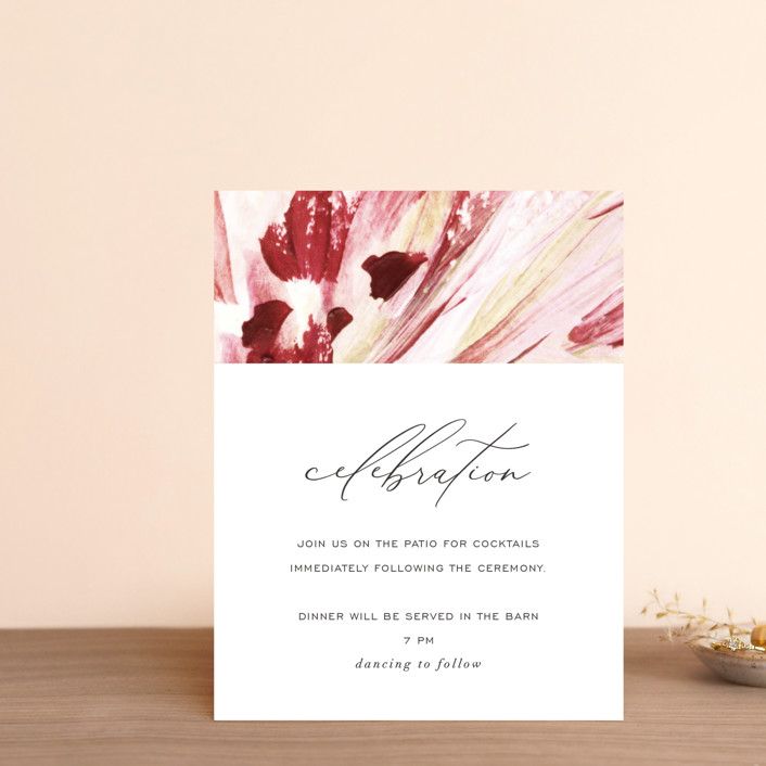 """pollen"" - Reception Cards in Petal by Robin Ott."