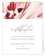 This is a pink reception card by Robin Ott called pollen with standard printing on signature in standard.