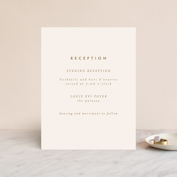 """""""desert chic"""" - Modern Reception Cards in Blush by AK Graphics."""