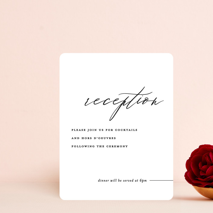 """Villa"" - Reception Cards in Pearl by Chryssi Tsoupanarias."