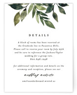 This is a green reception card by Alethea and Ruth called Clearing with standard printing on signature in standard.
