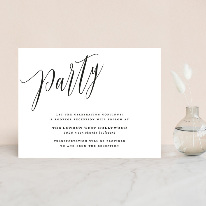 """""""Signed"""" - Reception Cards in Pearl by Roxy Cervantes."""